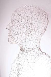 Sitzende Transparent (Galerie der Stadt Backnang, Vollansicht)