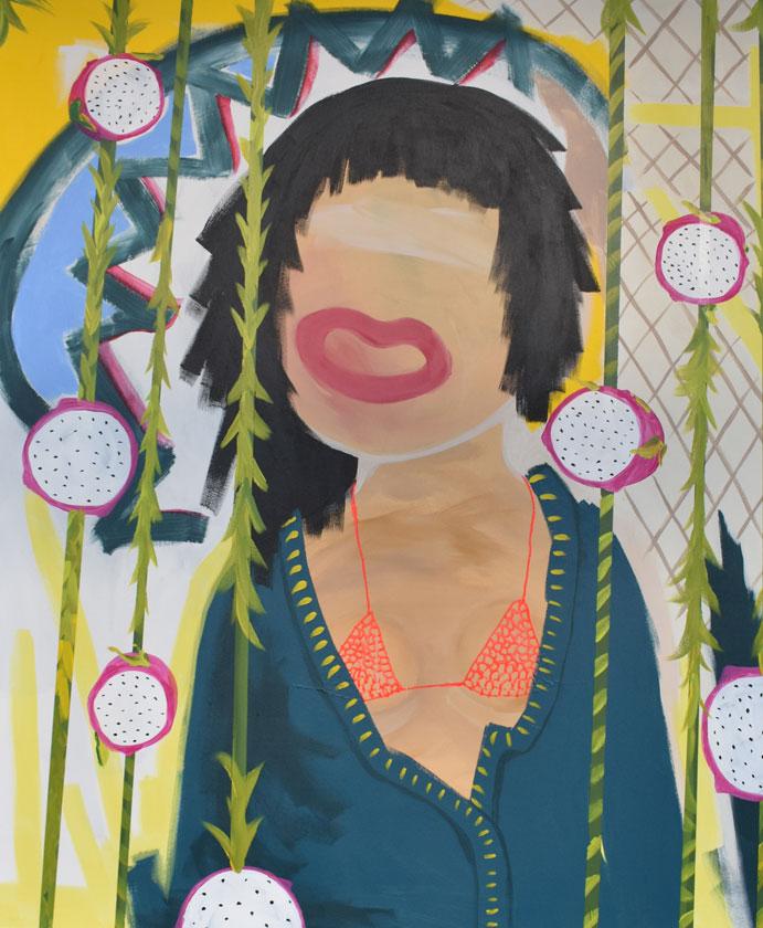 Pitaya | 110 cm x 90 cm | Öl und Acryl auf Leinwand | 2019