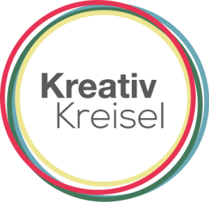 Logoentwurf-Kreativkreisel-einzelne-Kreise-neues-Rot-300x291
